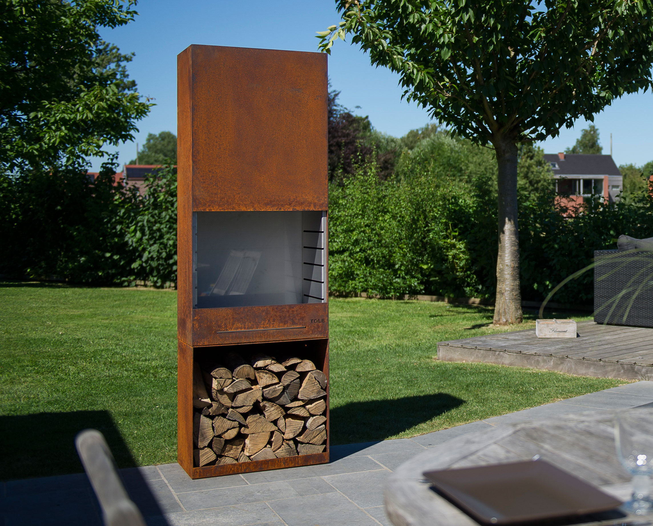 der tole gartenfeuer grill kamin k60 ingarden garten. Black Bedroom Furniture Sets. Home Design Ideas